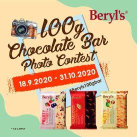 Beryl's Almond Chocolate Bar 100g - Pack of 2
