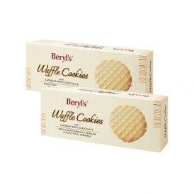 Beryl's Waffle Cookies Gianduja White Chocolate 80g - Pack of 2