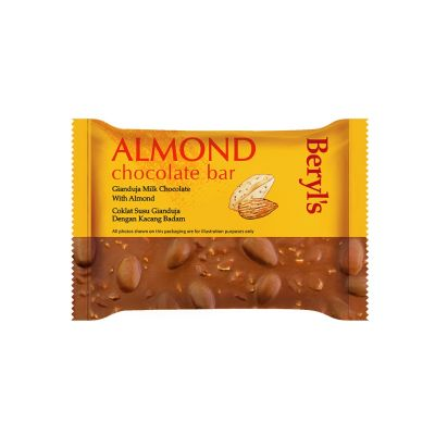 Beryl's Almond Chocolate Bar - Gianduja Milk Chocolate With Almond 100g