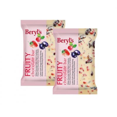 Beryl's Fruity Chocolate Bar 100g - Pack of 2