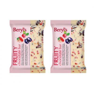 Beryl's Fruity Chocolate Bar 100g - Pack of 2