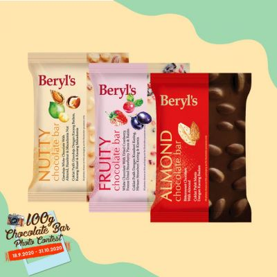 Beryl's 100g Chocolate Bar - Triple Pack