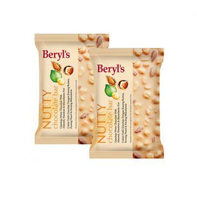 Beryl's Nutty Chocolate Bar 100g - Pack of 2