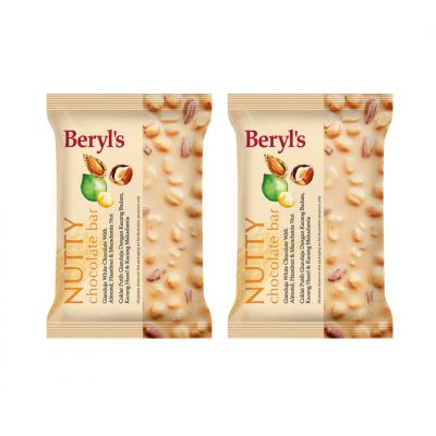 Beryl's Nutty Chocolate Bar 100g - Pack of 2