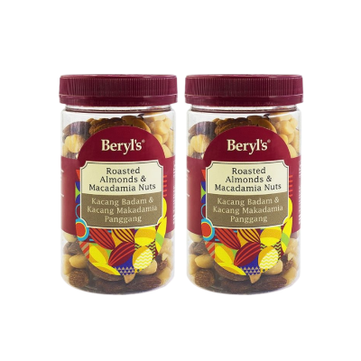 Beryl's Roasted Almonds & Macadamia Nuts 150g - Pack of 2 [Expiry Date : 10/12/2021]