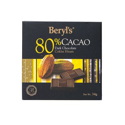80% Cacao Dark Chocolate 34g