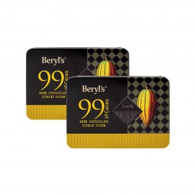 Beryl's 99% Cacao Dark Chocolate Mini Tin 108g - Pack of 2 [Best Before : 31Jan, 2021]