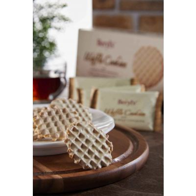 Beryl's Waffle Cookies Gianduja White Chocolate 80g - Pack of 4