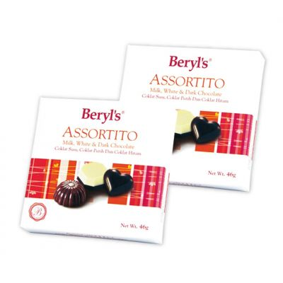 Assortito Milk, White & Dark Chocolate 46g - Pack of 2