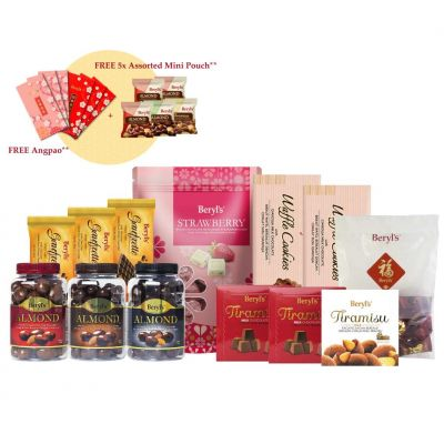 Beryl's CNY Blessing Good Fortune Gift Set *FREE Assorted Mini Pouch 30g X 5*