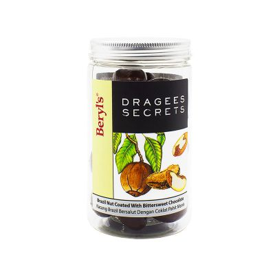 Dragees Secrets - Brazil Nut Coated With Bittersweet Chocolate 180g