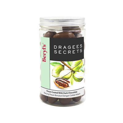 Dragees Secrets - Pecan Coated With Dark Chocolate 180g