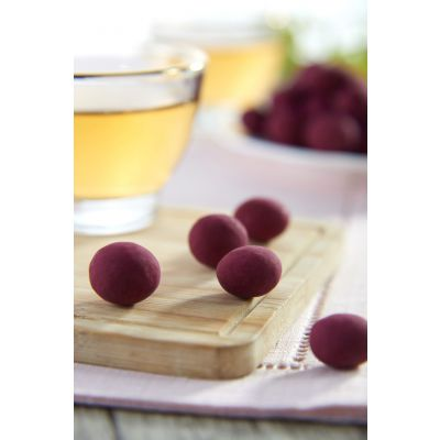 Dragees Secrets - Dried Blueberries Coated With Double Layered Milk & White Chocolate 180g