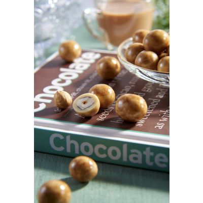 Dragees Secrets - Hazelnut Coated With Marbled White Chocolate & Dark Chocolate 180g