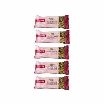 Beryl's Granola Bar Coated With Milk Chocolate 35g - Pack of 5