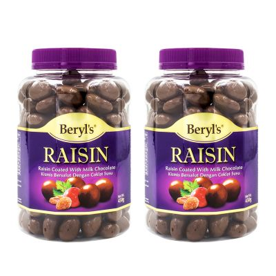Beryl's Raisin Coated With Milk Chocolate 450g - Twin