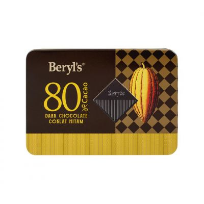 Beryl's 80% Cacao Dark Chocolate Mini Tin 108g