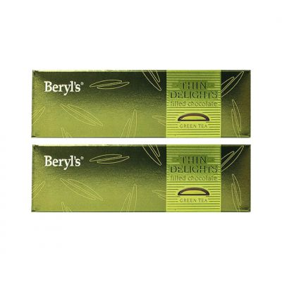 Thin Delights - Dark Chocolate With Green Tea Filling 70g - Pack of 2