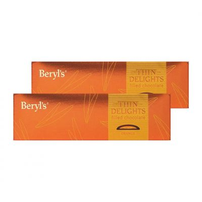 Thin Delights - Bittersweet Chocolate With Orange Filling 70g - Pack of 2