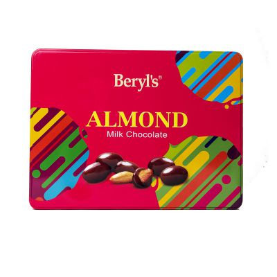 Tin Almond Coated With Milk Chocolate 300g