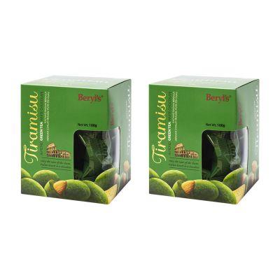 Tiramisu Almond Green Tea Chocolate 100g - Pack of 2