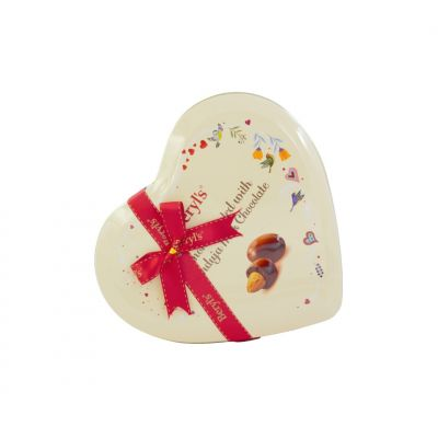 Beryl's Heart Tin Almond Coated with Gianduja Milk Chocolate 80g