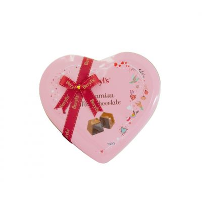 Beryl's Heart Tin Tiramisu Milk Chocolate 80g