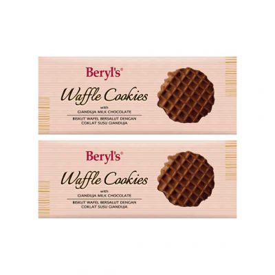 Beryl's Waffle Cookies Gianduja Milk Chocolate 80g - Pack of 2