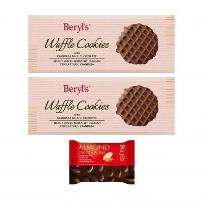 Beryl's Waffle Cookies Gianduja Milk Chocolate Twin Bundle B