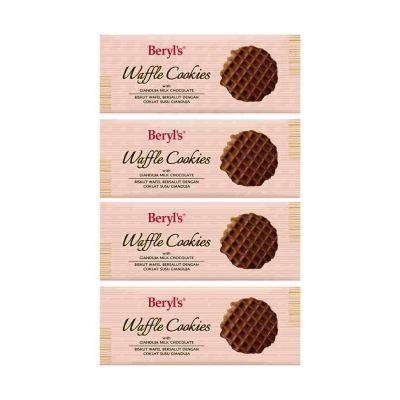 Beryl's Waffle Cookies Gianduja Milk Chocolate 80g - Pack of 4